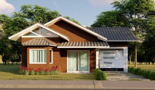 Casa de madeira e seus benefícios a saúde.