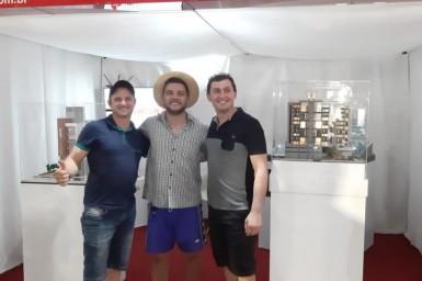 Badin - o Colono no stander da Construtora Velho Casarão na EXPO CONCÓRDIA